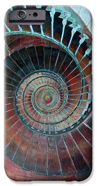 Spiral Mixed Media iPhone Cases - Feel Your Presence and Its Inherent Vibration iPhone Case by Elizabeth D