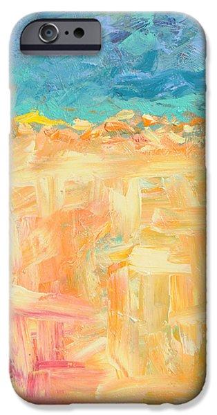 Alizarin Crimson iPhone Cases - Feelin Beachy iPhone Case by Paulette B Wright