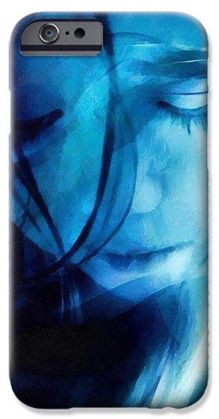 Feeling a little blue iPhone Case by Gun Legler