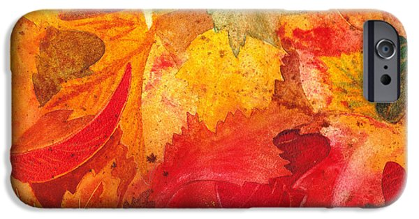 Maple Season Paintings iPhone Cases - Feeling Fall iPhone Case by Irina Sztukowski
