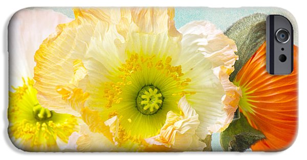 Close Up Floral Mixed Media iPhone Cases - Feeling of summer iPhone Case by Angela Doelling AD DESIGN Photo and PhotoArt