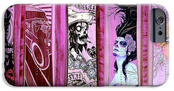 Skateboard iPhone Cases - Feeling Pinkish iPhone Case by Fraida Gutovich