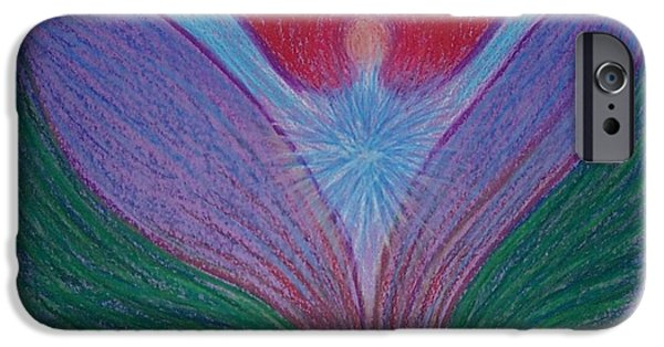 Spiritual Pastels iPhone Cases - Feeling Surrounded by Love #1 iPhone Case by Jamie Rogers