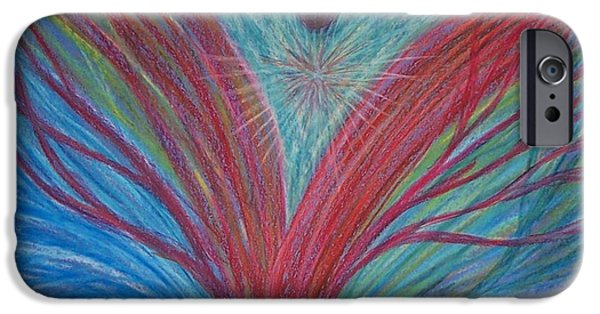 Spiritual Pastels iPhone Cases - Feeling Surrounded by Love #2 iPhone Case by Jamie Rogers