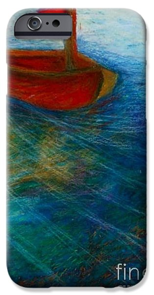 Sailboats Pastels iPhone Cases - Feeling the wind blow iPhone Case by Jon Kittleson