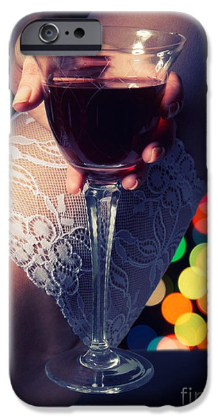 Wine Legs iPhone Cases - Feet With Wine iPhone Case by Aleksey Tugolukov