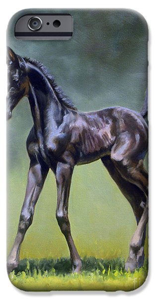 American Saddlebred iPhone Cases - Feisty Lady iPhone Case by Jeanne Newton Schoborg