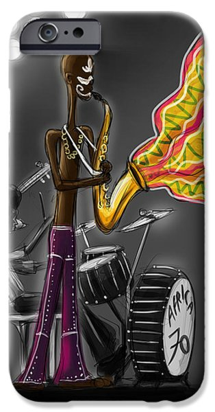 Sasank Gopinathan iPhone Cases - Fela Afrobeat Kuti iPhone Case by Sasank Gopinathan