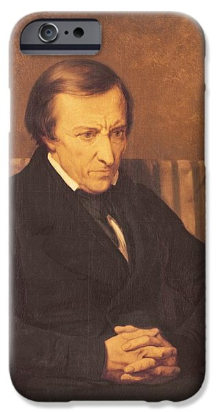 Author iPhone Cases - Felicite Robert De Lamennais, 1845 Oil On Canvas iPhone Case by Ary Scheffer