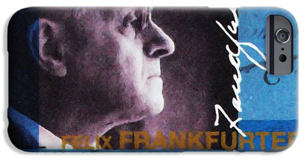 Abolition Paintings iPhone Cases - Felix Frankfurter iPhone Case by Lanjee Chee