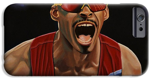 Summer Sports Paintings iPhone Cases - Felix Sanchez iPhone Case by Paul  Meijering