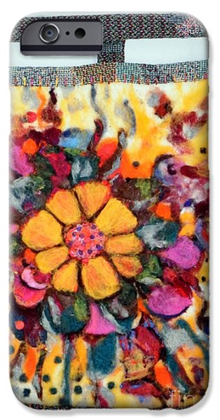 Needle Tapestries - Textiles iPhone Cases - Felted Wall Hanging iPhone Case by Selma Glunn