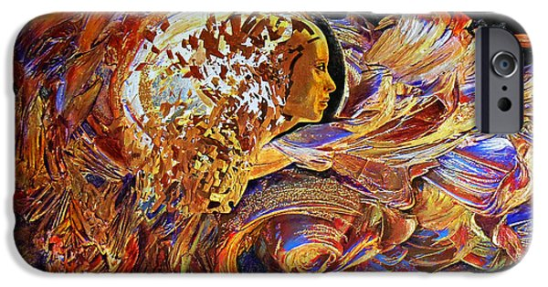 Business Digital iPhone Cases - Female Seer iPhone Case by Michael Durst