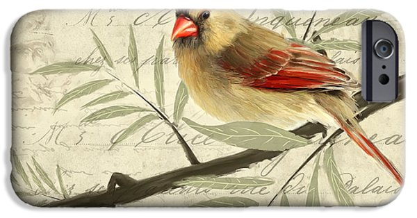 Cardinal iPhone Cases - Female Symphony iPhone Case by Lourry Legarde