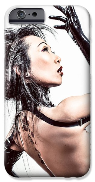 Chinese Woman iPhone Cases - FemDom 1007 - Dominatrix iPhone Case by Gary Heller