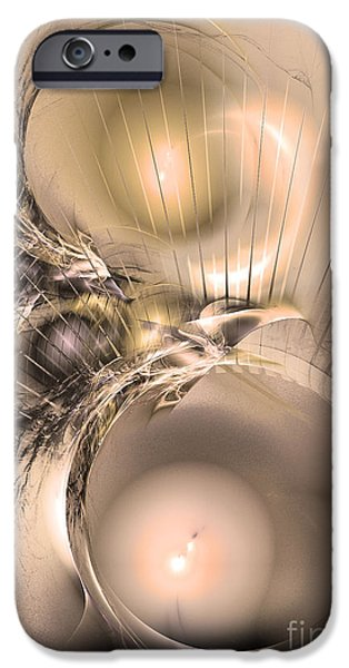 Colorful Abstract Algorithmic Contemporary iPhone Cases - Femina et vir - Abstract art iPhone Case by Sipo Liimatainen
