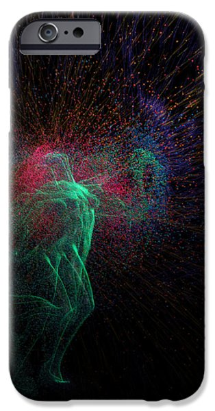 Constellations iPhone Cases - Femina Ludens - Playing Woman iPhone Case by Sora Neva