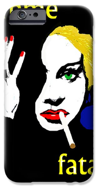 1950s Movies iPhone Cases - Femme Fatale iPhone Case by Paul Sutcliffe