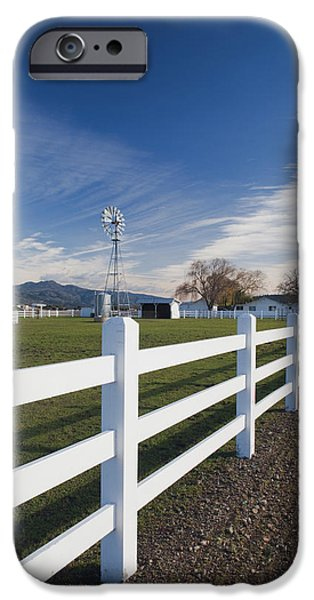 Winery Photography iPhone Cases - Fence At A Winery, Rutherford, Wine iPhone Case by Panoramic Images