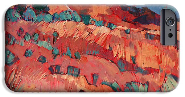 Malibu Paintings iPhone Cases - Fence at Malibu iPhone Case by Erin Hanson