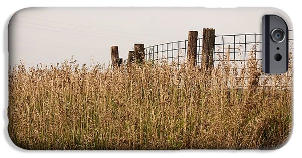 Agriculture iPhone Cases - Fence Post iPhone Case by Mark McReynolds