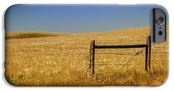 Old Fence Posts iPhone Cases - Fence Post Near Choteau Montana iPhone Case by Rich Franco