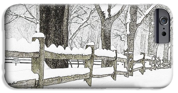 Split Rail Fence iPhone Cases - Fenced In Forest iPhone Case by John Stephens