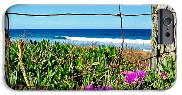 Old Fence Posts iPhone Cases - Fenced In iPhone Case by Kaye Menner