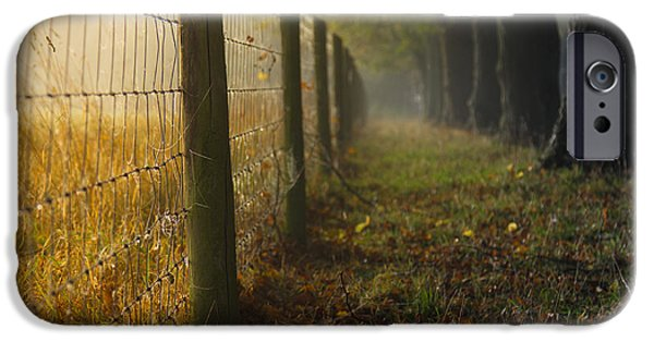 Autumn iPhone Cases - Fenced off iPhone Case by Chris Fletcher
