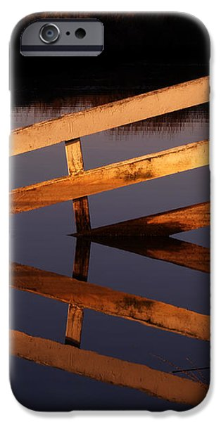 Fenced Reflection iPhone Case by Bill Gallagher