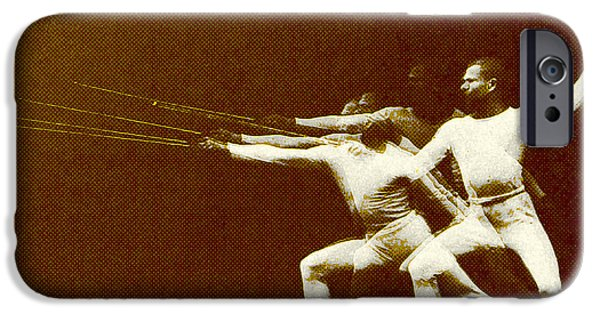 Antiques iPhone Cases - Fencer In Motion iPhone Case by Gary Grayson