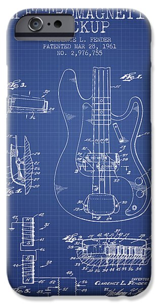 Recently Sold -  - Technical iPhone Cases - Fender Guitar Patent from 1961 - Blueprint iPhone Case by Aged Pixel