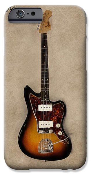 Guitar iPhone Cases - Fender Jazzmaster iPhone Case by Mark Rogan