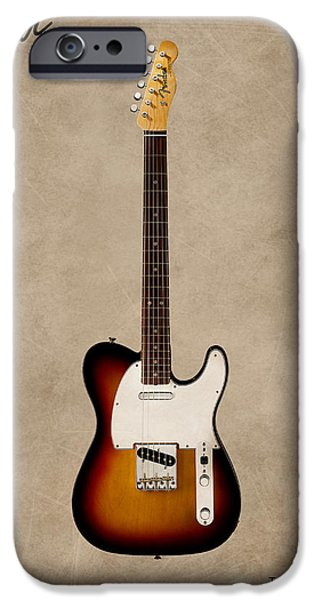 Guitar iPhone Cases - Fender Telecaster 64 iPhone Case by Mark Rogan