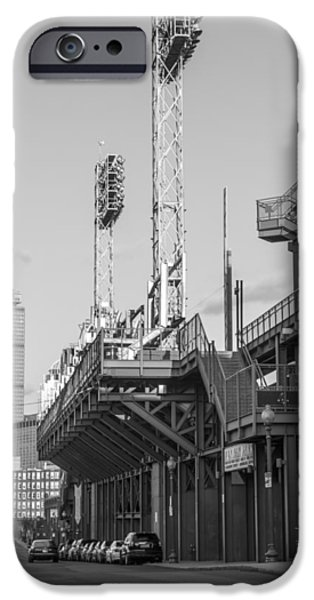 Recently Sold -  - Fenway Park iPhone Cases - Fenway Black and White iPhone Case by John McGraw