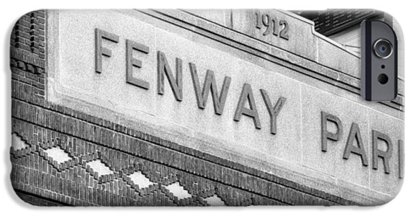 Red Sox iPhone Cases - Fenway Park 1912 BW iPhone Case by Susan Candelario