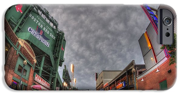 Boston Red Sox iPhone Cases - Fenway Park 4 iPhone Case by Joann Vitali