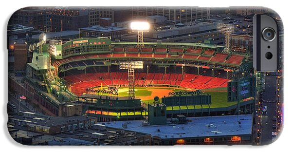 Boston Red Sox iPhone Cases - Fenway Park at Night - Boston iPhone Case by Joann Vitali