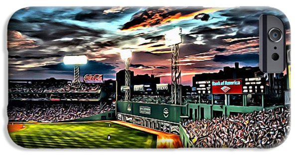 Red Sox Red Sox iPhone Cases - Fenway Park at Sunset iPhone Case by Florian Rodarte