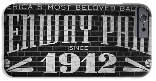 Boston Ma iPhone Cases - Fenway Park Boston MA 1912 Sign iPhone Case by Toby McGuire
