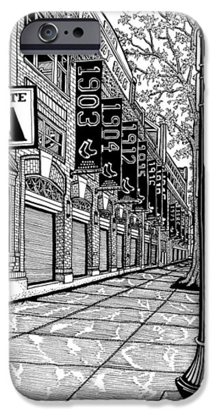 Fenway Park Drawings iPhone Cases - Fenway Park iPhone Case by Conor Plunkett