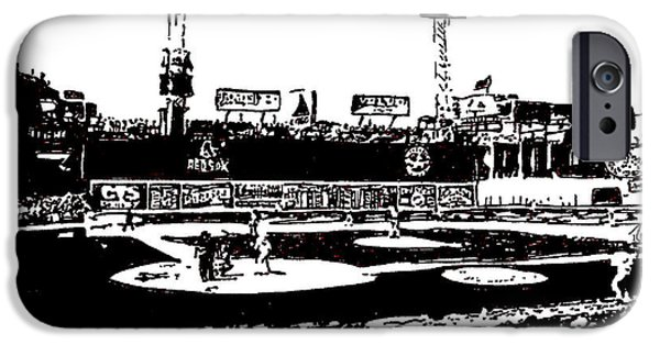 Fenway Park Drawings iPhone Cases - Fenway Park drawing iPhone Case by Rob Monte