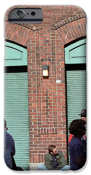 Fenway Park - Fans and Locked Gate iPhone Case by Frank Romeo