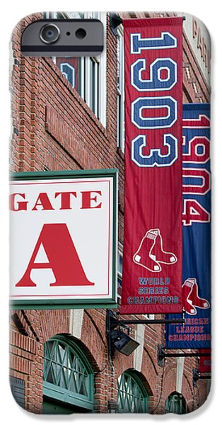 Tickets Boston iPhone Cases - Fenway Park Gate A iPhone Case by Jerry Fornarotto