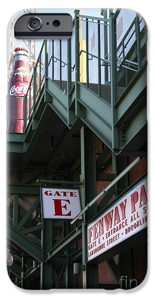 Red Sox Tickets iPhone Cases - Fenway Park Gate E iPhone Case by David Leiman