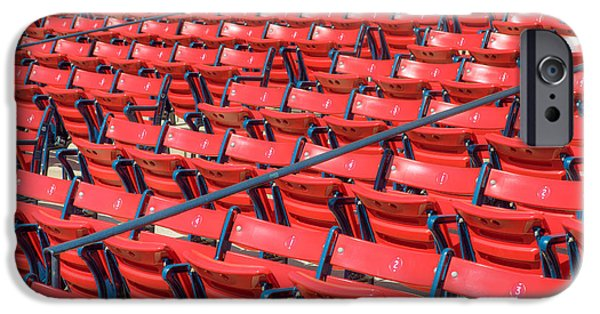 Fenway Park iPhone Cases - Fenway Park Grandstand Seats I iPhone Case by Clarence Holmes