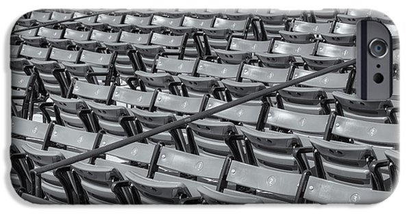 Fenway Park iPhone Cases - Fenway Park Grandstand Seats II iPhone Case by Clarence Holmes