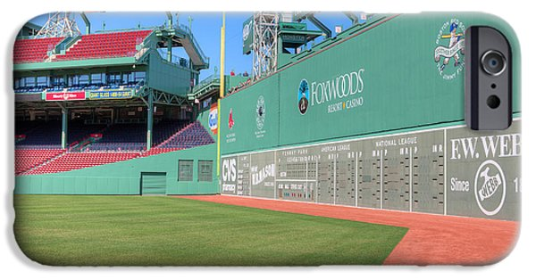 Red Sox iPhone Cases - Fenway Park Green Monster I iPhone Case by Clarence Holmes