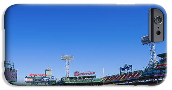Fenway Park iPhone Cases - Fenway Park- Home of the Boston Red Sox iPhone Case by Diane Diederich