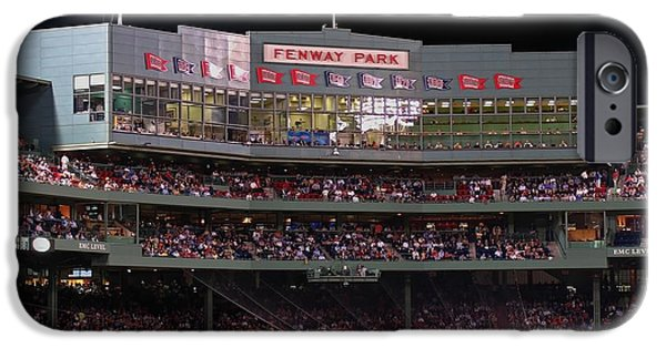 City. Boston iPhone Cases - Fenway Park iPhone Case by Juergen Roth